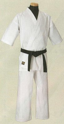 Martial world and pure white full contact karate ringtone KU15 No.3 (with a white band)