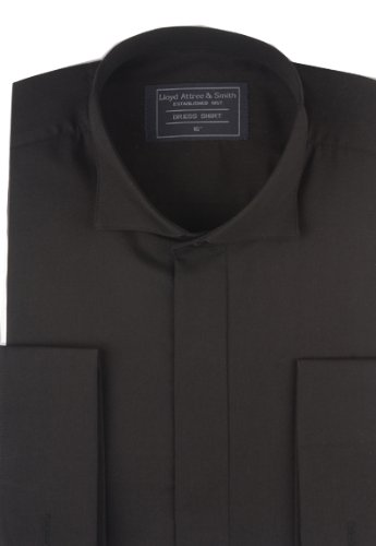 Victorian Wing Collar Dress Shirt Black