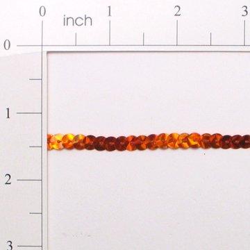 Slung Prism Flat Sequin Trim - Orange - 6mm*On Sale* 1 Yard