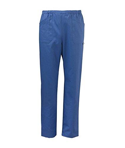 """SIGGI - Pantaloni """"Milano"""" unisex in cotone drill 100% sanfor colori vari. Peso al mq. gr. 190 - Taglia: 52 - Varianti: bianco"""