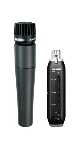 Shure Sm57-X2U Cardioid Dynamic Microphone With X2U Xlr-To-Usb Signal Adapter