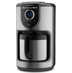 Kitchenaid Coffee Maker Stainless Steel Carafe : Amazon.com: Kitchenaid 10-cup Digital Thermal Stainless Steel Carafe Coffee Maker Kcm112ob One ...