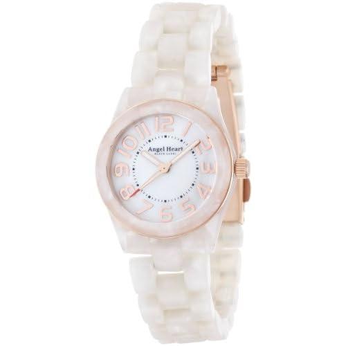 [エンジェルハート]Angel Heart 腕時計 ブラックレーベル ホワイト文字盤 アセテートケース アセテートベルト BK28AWH レディース