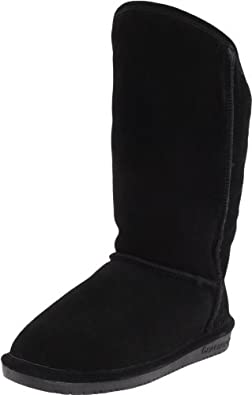 BEARPAW Women's Emily Boot,Black,12 M US