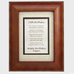 Craft Ideas 75th Birthday on Com  Happy 75th Birthday Toast Poem   Commemorative 75th Birthday