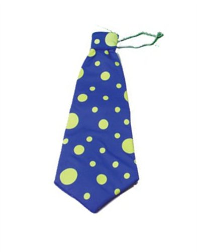 Huge Jumbo Giant Blue Polka Dot Funny Clown Costume Accessory Tie