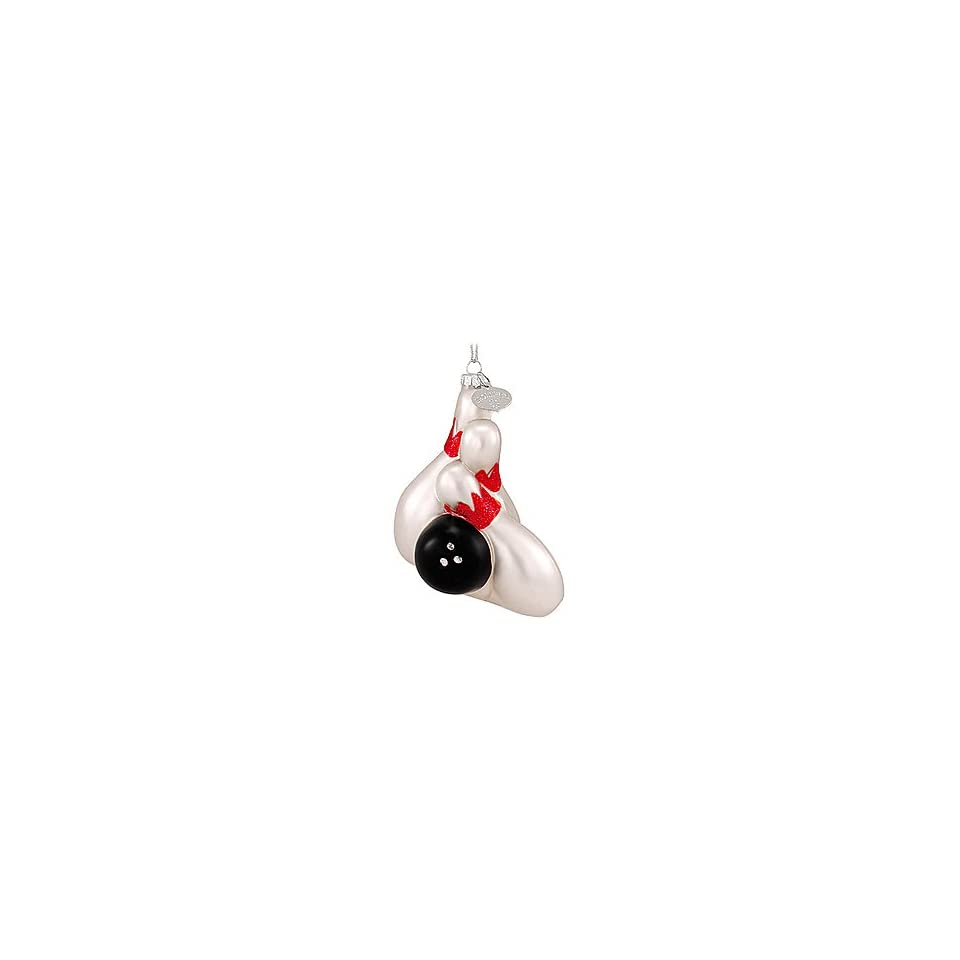 Bowling Ball And Pins Glass Ornament on PopScreen 303dca29a9751