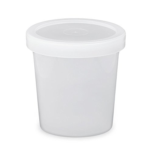 16 oz. Food Grade Freezer Grade Round Container with Lid - Translucent - 30 Pack (Round Ice Cream Container compare prices)