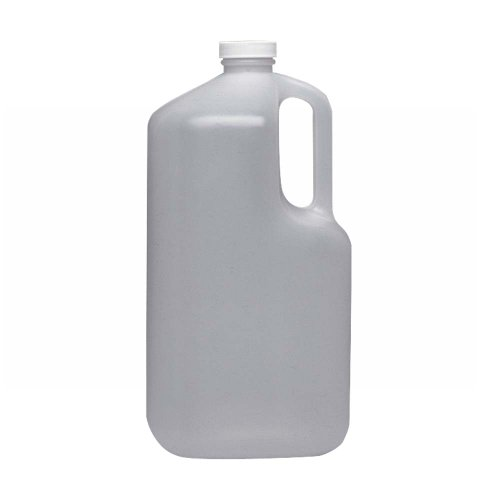 Wheaton 222333 HDPE Square 1 gallon Jug Bottle, with 38-400 White Polypropylene Screw Cap (Case of 4) (White Cap Vapor Barrier compare prices)