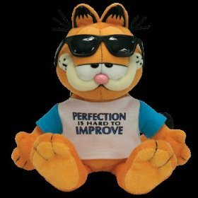 "Ty Beanie Baby GARFIELD ""Perfection Is Hard To Improve"""