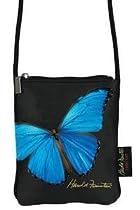 Harold Feinstein Butterfly Slim Shoulder Bag (Blue)