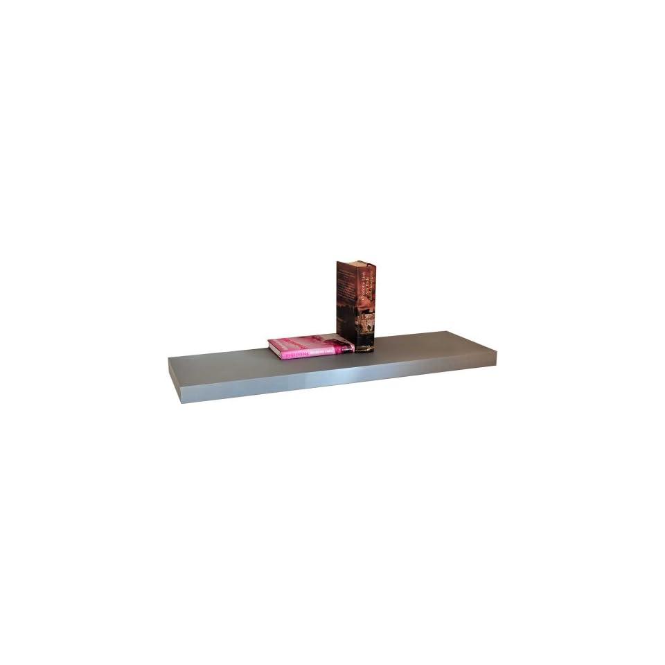 wandregal schwebend wandboard farbton silber regal mit on. Black Bedroom Furniture Sets. Home Design Ideas