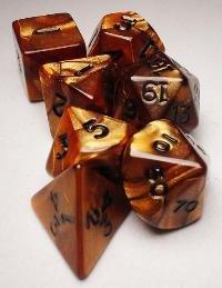 Koplow RPG Dice Sets: Bronze/Black Olympic Polyhedral 7-Die Set