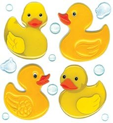 Bulk Buy: Jolee's Boutique Dimensional Stickers-Cute Rubber Duckies (3-Pack)