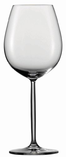 Schott Zwiesel Tritan Crystal Glass Diva Stemware Collection Goblet/Wine/Water Glass, Set of 6 (Titanium Crystal Wine Glasses compare prices)