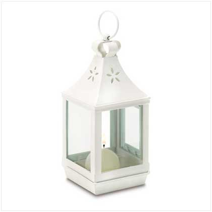 B0013G6YZA Gifts & Decor Mini Cutwork White Shabby Garden Outdoor Light Lantern