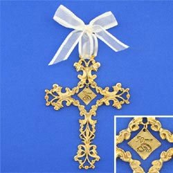50th Anniversary Cross Ornament - Beautiful & Traditional 50th Anniversary Gift Idea