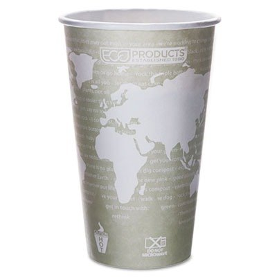 Eco-Products® World Art™ Renewable Resource Compostable Hot Drink Cups