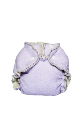 Kissaluvs Cotton Fleece Fitted Diaper, Purple, 0 - Newborn 5-15Lbs front-519370