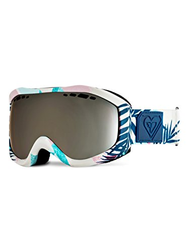 Roxy Sunset Art Series - Gafas de snowboard (Talla única), color blanco