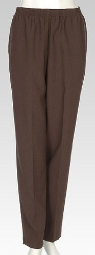 Alia Petite Feather Touch Pull On Pants 16P Brown (Alia Clothing compare prices)