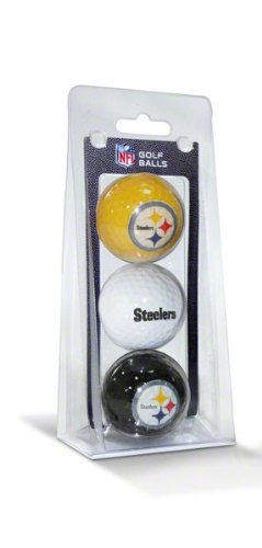 NFL Pittsburgh Steelers 3-Pack Golf Balls at SteelerMania