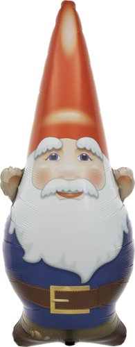 Birthday Gnome Helium Foil Balloon - 38 inch