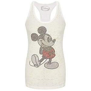 Disney Burnout Racerback Tank Mickey Mouse Top for Women