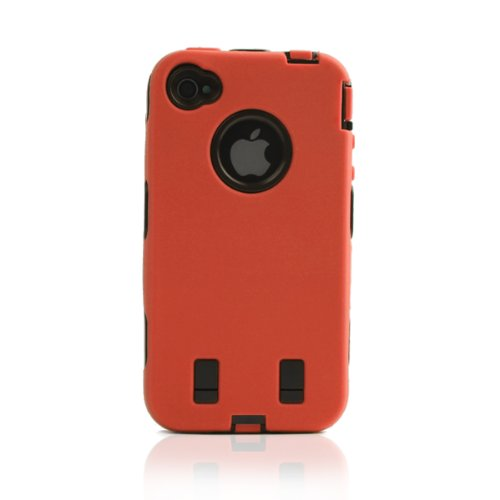 ArmorBox Case with Front and Back Screen Protector for iphone 4 - Hunter Orange