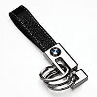Bmw 3 Ring Leather Key Chain by BMW
