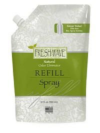 Fresh Wave 089 Spray Refill Unscented Bottle, 32 Oz singles