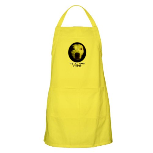 Cafepress It'S All About Attitude BBQ Apron - Standard