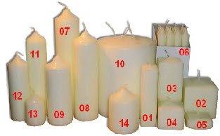 Church Candle Pillar 75mm X 50mm by Ancient Wisdom