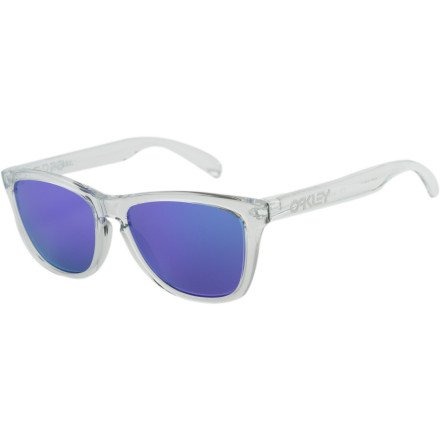 Oakley Mens Frogskins 24-305 Iridium Cat Eye Sunglasses,Polished ...