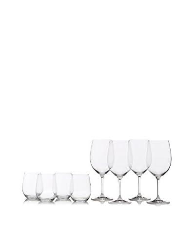Riedel Set of 4 Vinum Bordeaux Glasses & Set of 4 O Viognier/Chardonnay Glasses, Clear