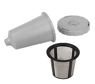 Reusable K-Cup Coffee Filter Exclusive To The Keurig Home Brewing System - Keurig My K-Cup Replacement Coffee Filter Set 3 Pieces Gray Color Fits B30 B31 B40 B50 B60 B70