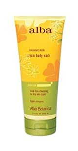 Alba Botanica Coconut Milk Cream Body Wash, 7 oz