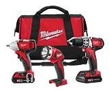 Milwaukee 2691-23 M18 18-Volt 3-Tool Combo Kit