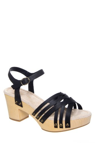 Restricted Cate Mid Heel Woven Toe Ankle Strap Sandal