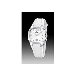 LOTUS CODE 15510/A WHITE LEATHER STRAP WOMENS WATCH