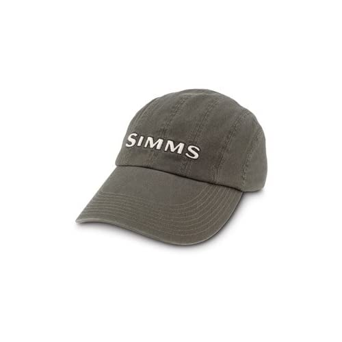 Amazon.com : Simms 8-Panel Washed Twill Long Bill Cap : Fishing Hats