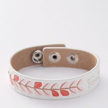Fossil Women Bracelet Lether White + Multi-Coloured 20 CM JF86120040 - White