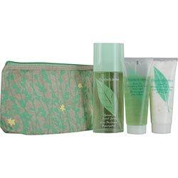 Green Tea By Elizabeth Arden Gift Set For Women: Eau De Parfum Spray 3.3 Oz & Honey Drops Body Cream 3.3 Oz & Shower Gel 3.3 Oz & Eco-Friendly Cosmetic Bag