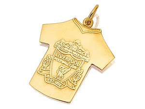 9ct Gold Liverpool Shirt And Crest Pendant from Liverpool F.C.