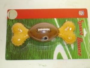 NEW NFL Licensed Washington Redskins Sport Bone Dog Toy