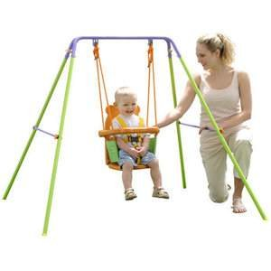 Sportspower for baby folding toddler indoor outdoor for Baby garden swing amazon