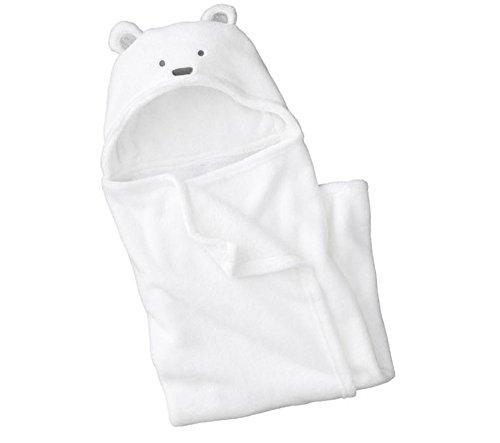 reine-a-la-mode-peignoir-de-bain-a-capuche-pour-bebe-a-motif-nounour-ourson-blanc