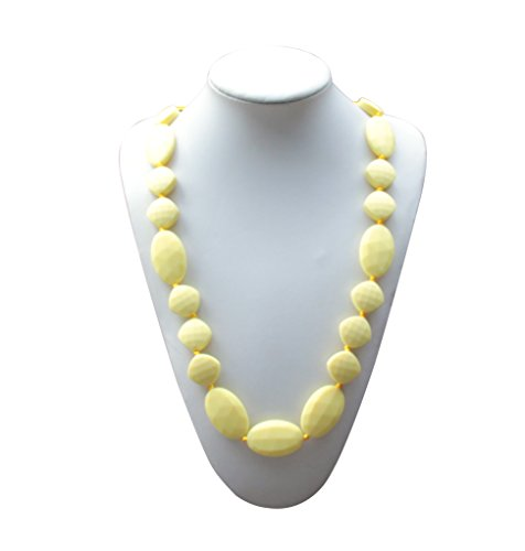 SillyMunk TM Silicone Teething Necklace Flat Faceted -(YELLOW)