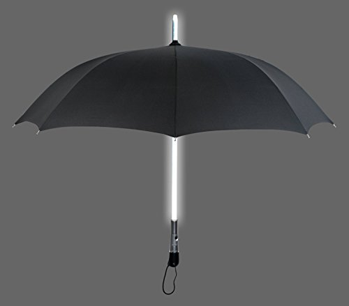 ZHOL® Umbrella with LED Flashlight Handle (Black)
