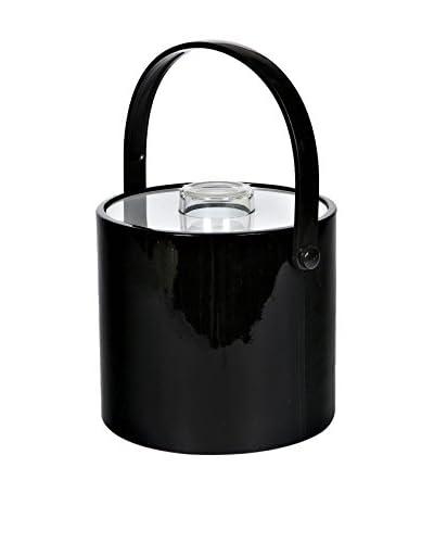 2 B Modern 1960s Handled Ice Bucket, Black/Clear